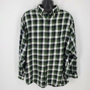 Brooks Brothers 346 Soft Flannel Plaid Button Down